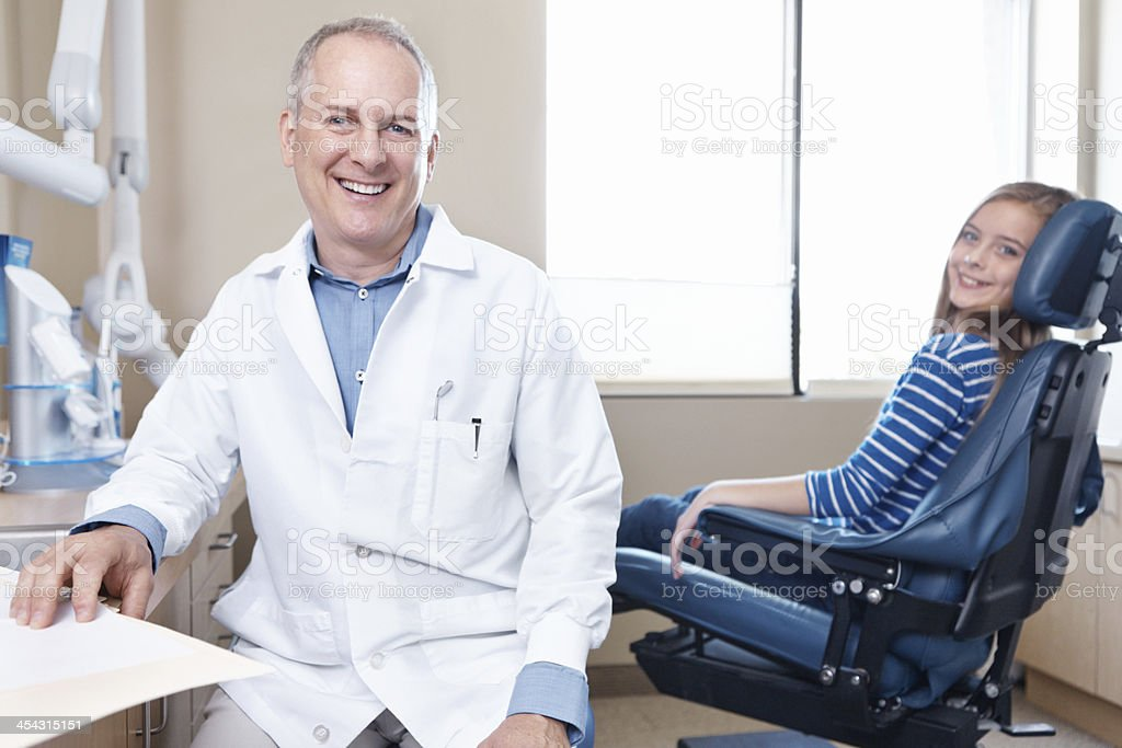 His experience puts her at ease royalty-free stock photo