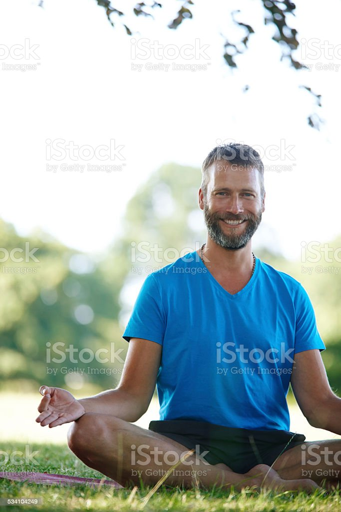 His favorite meditation spot stock photo
