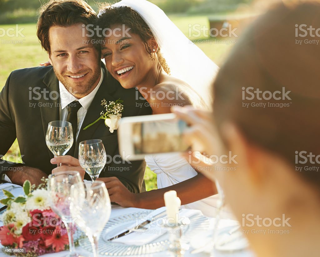 His forever was simply her smile stock photo