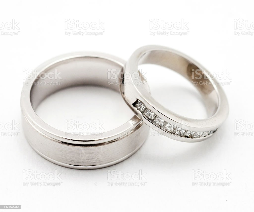 His/ hers wedding rings royalty-free stock photo