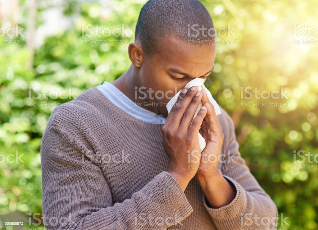 His immune system needs a booster stock photo