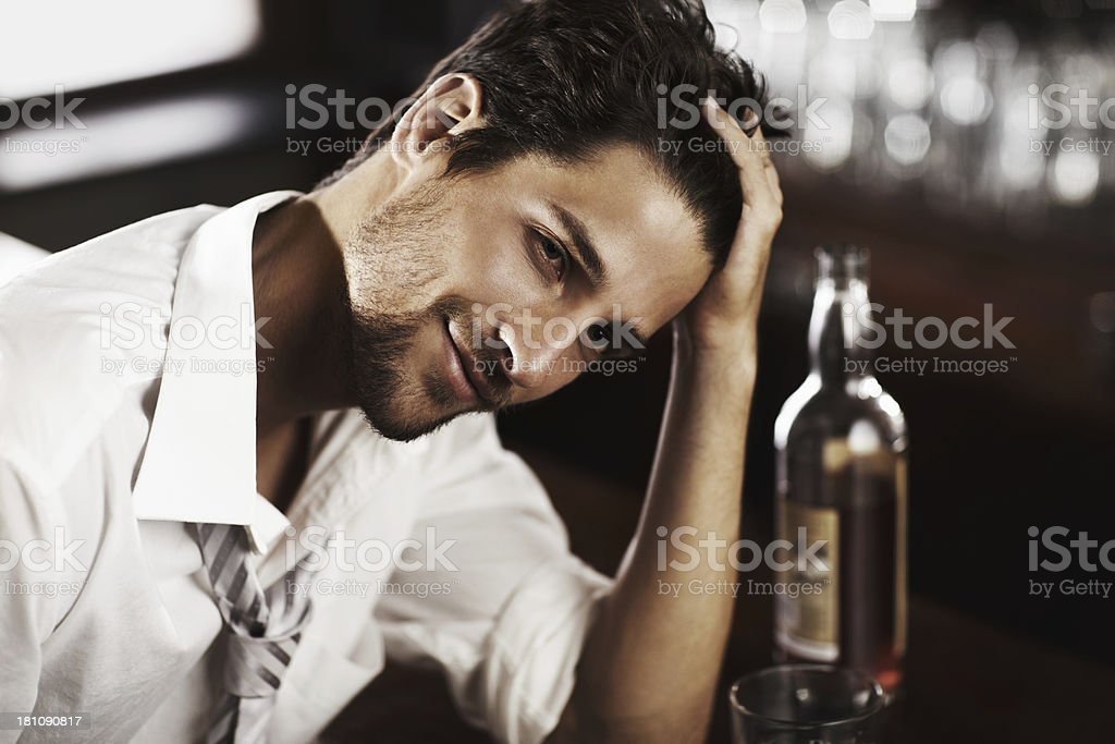 His just reward for a hard day royalty-free stock photo