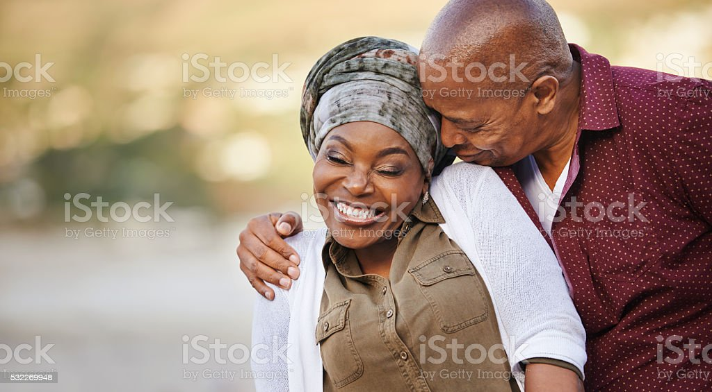 His love is all in the kiss stock photo