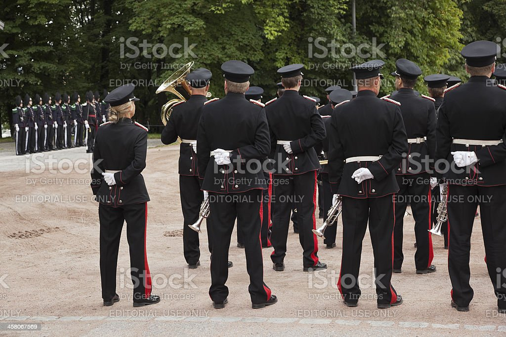 His majesty the kings guard band and drill team. royalty-free stock photo