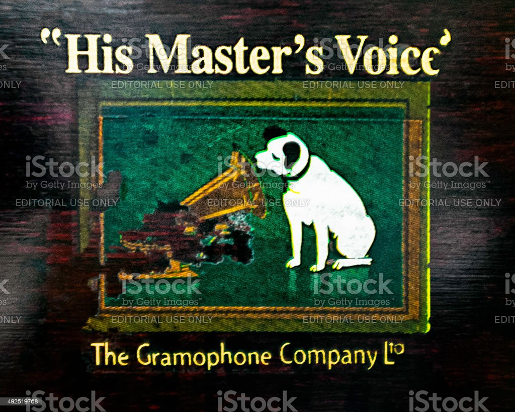 His Master's Voice stock photo