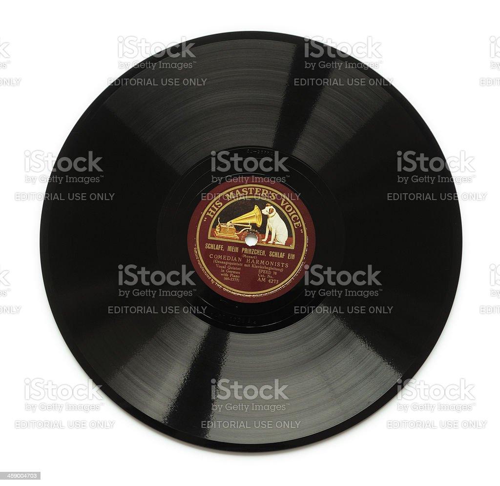 His Master's Voice record stock photo