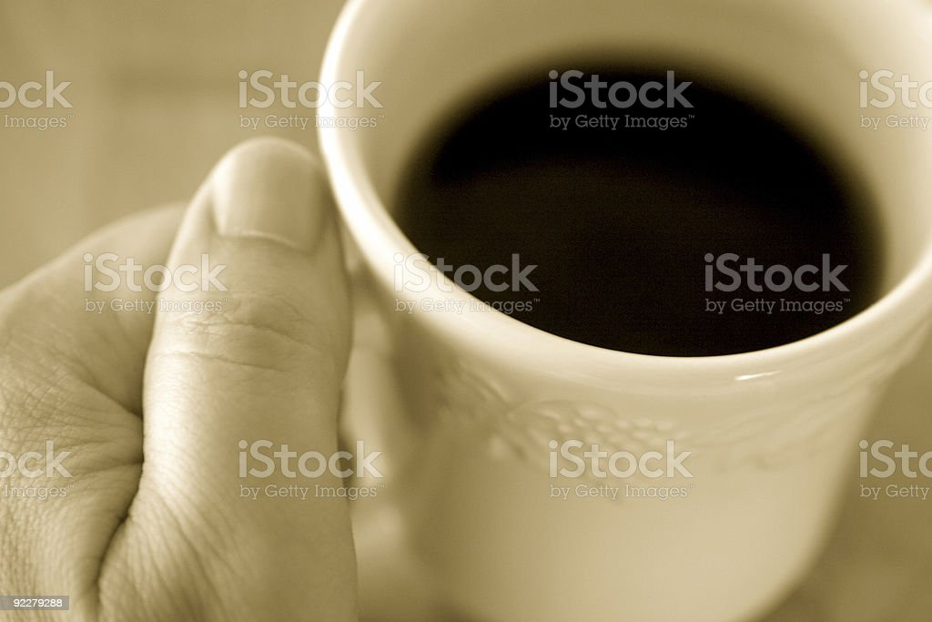 His Morning Cup royalty-free stock photo