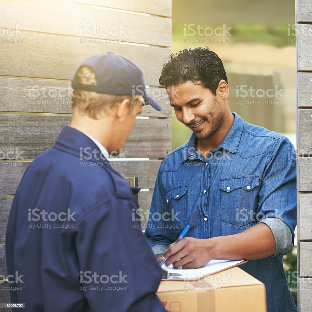 His package has arrived stock photo