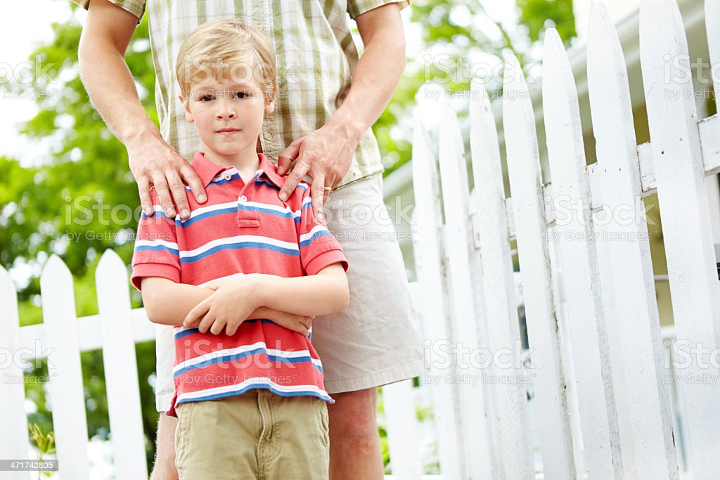 His parent's have given him a great foundation royalty-free stock photo