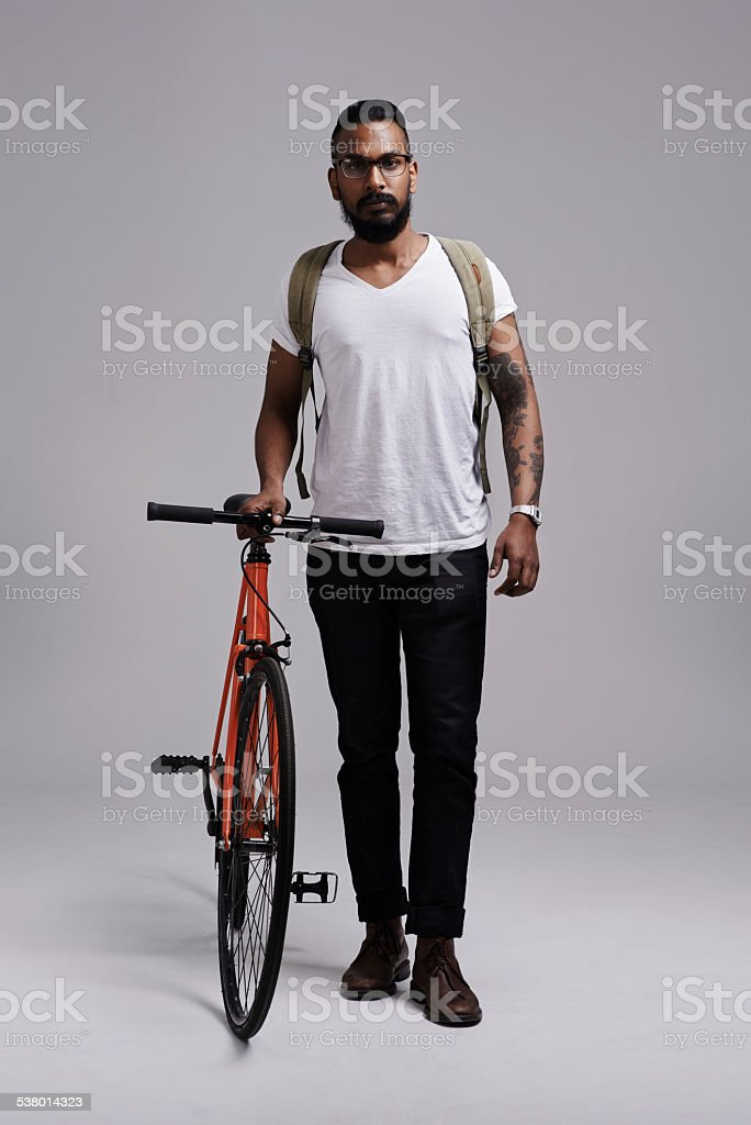 His preferred mode of transport stock photo