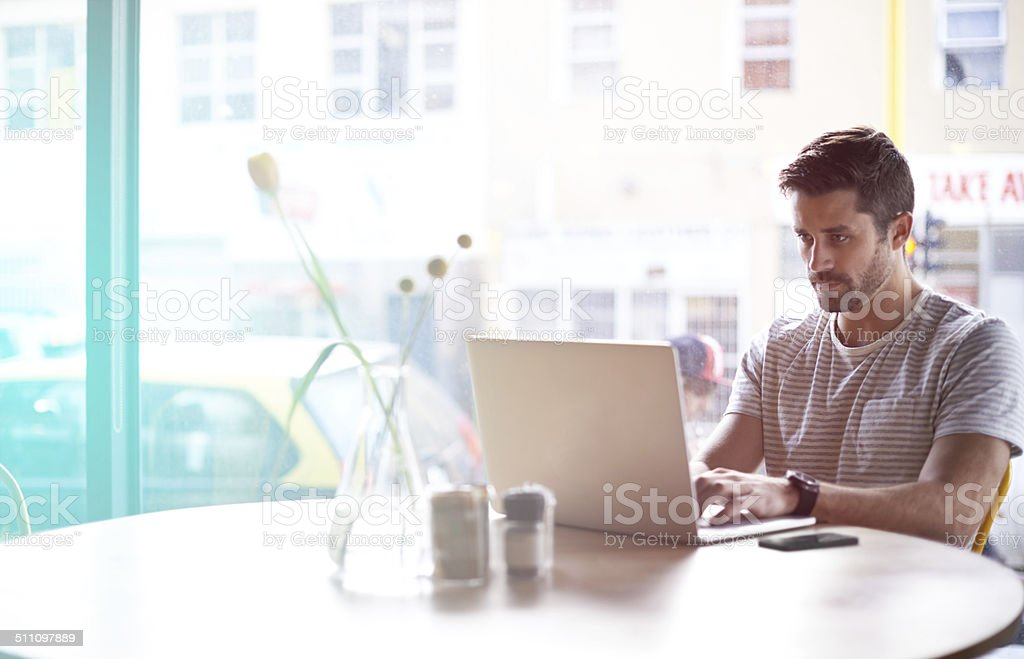 His preferred working style stock photo