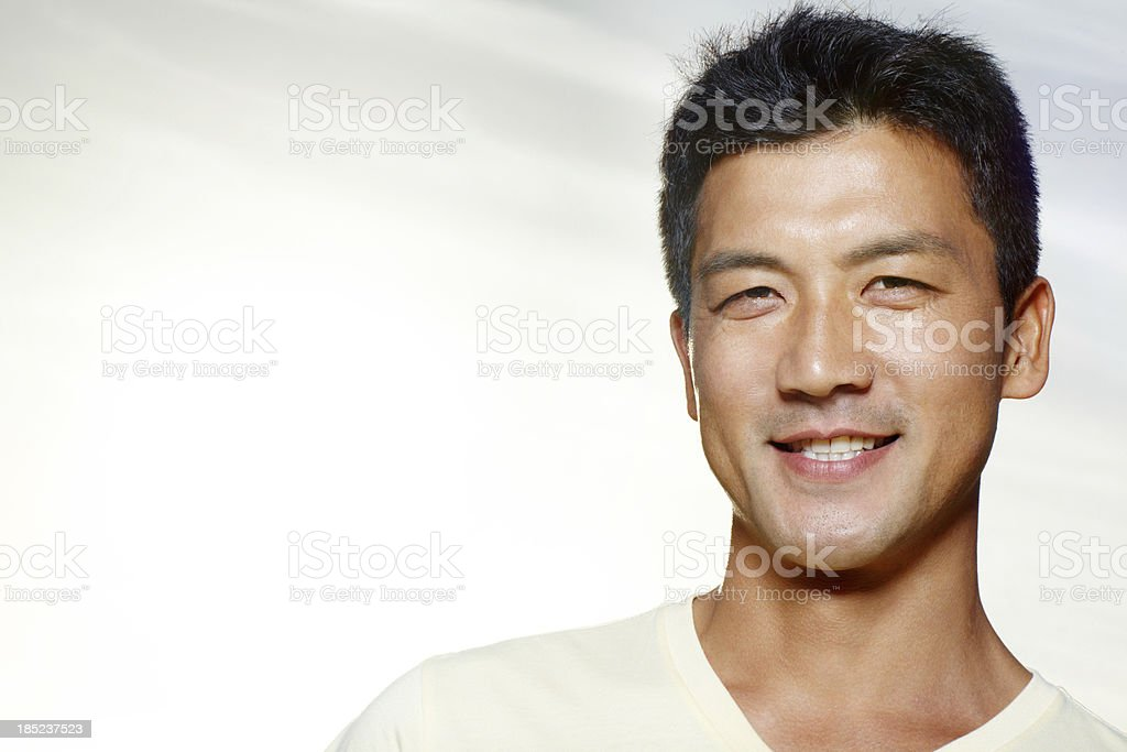 His smile will light up your day stock photo