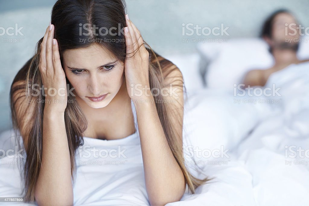 His snoring is so loud royalty-free stock photo