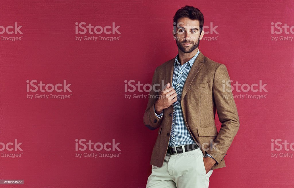 His style stands out stock photo