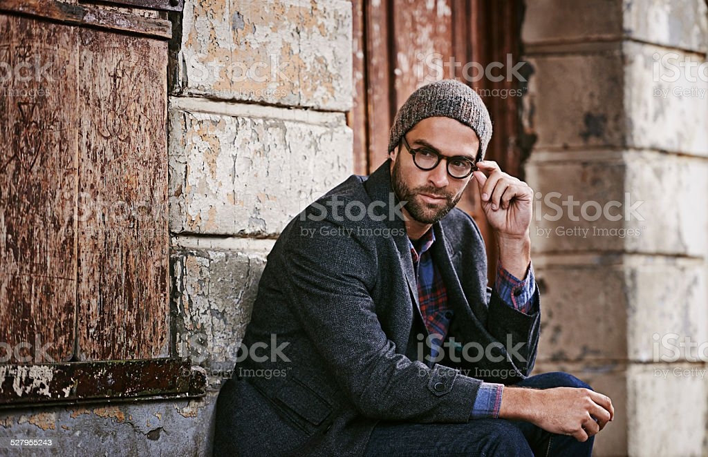 His style will make you look twice stock photo