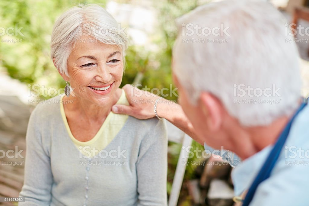 His support means more than he'll ever know stock photo
