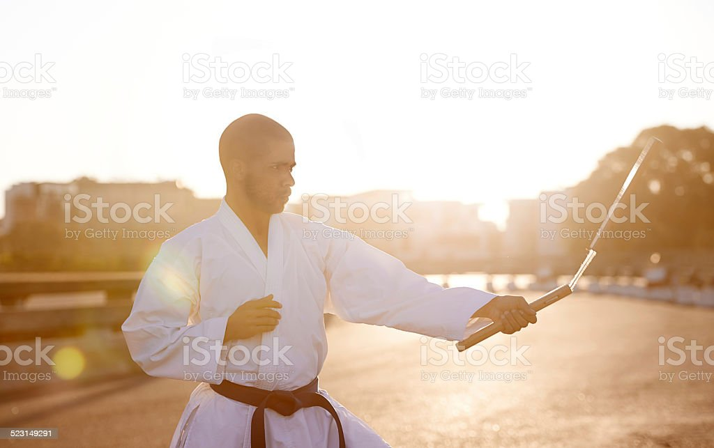 His technique is flawless stock photo