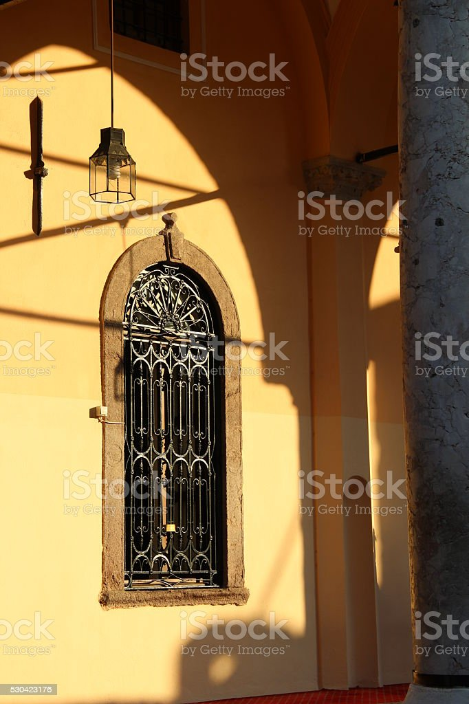 Hisar Mosque Windows and Lamb stock photo