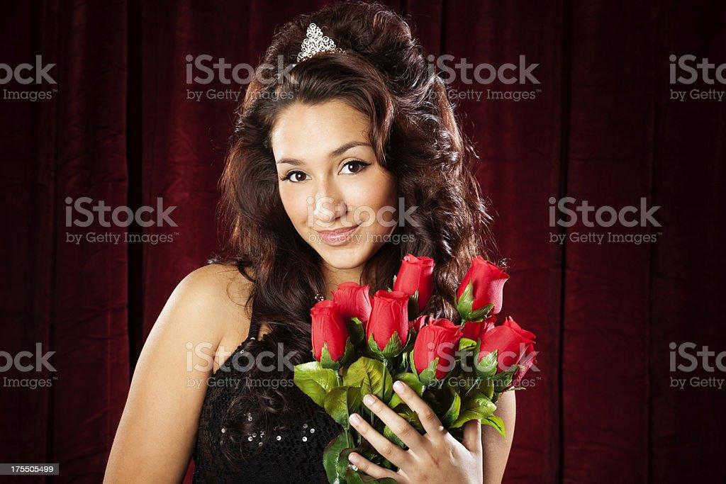Hispanic Beauty Queen stock photo