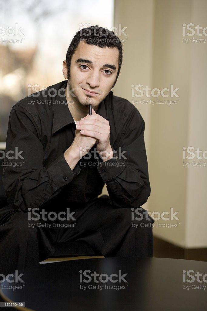 hispanic business man portraits royalty-free stock photo