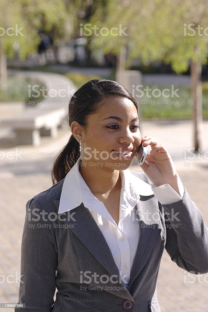 Hispanic Business Woman Making a Cell Phone Call royalty-free stock photo