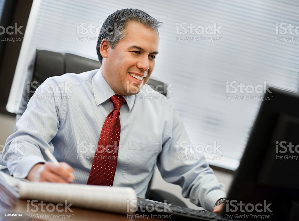 Hispanic Businessman With Big Smile royalty-free stock photo