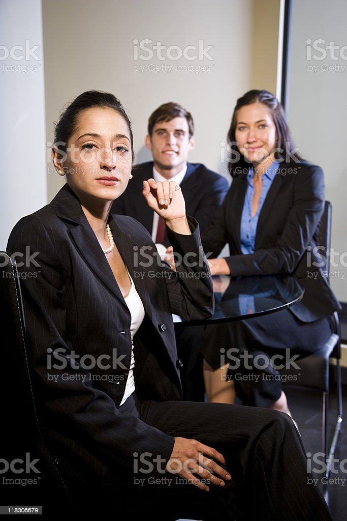 Hispano de reunión empresaria foto de stock libre de derechos