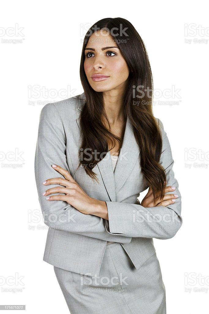 Hispanic businesswoman royalty-free stock photo