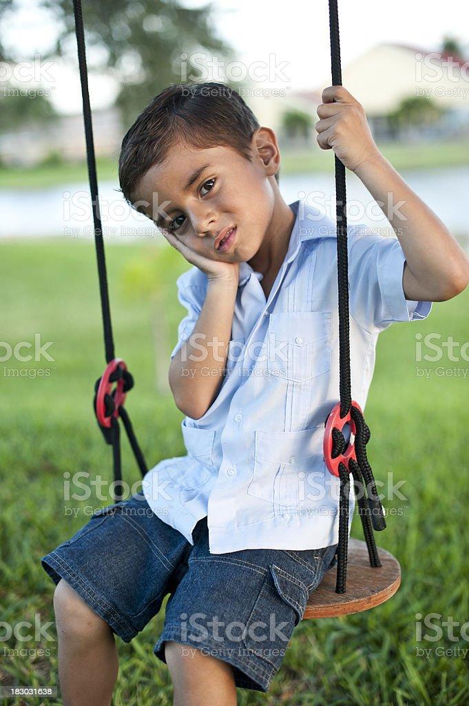 Hispanic child royalty-free stock photo