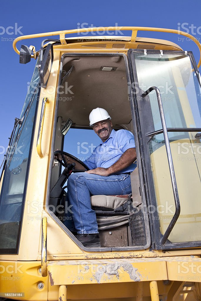 Hispanic Construction worker royalty-free stock photo