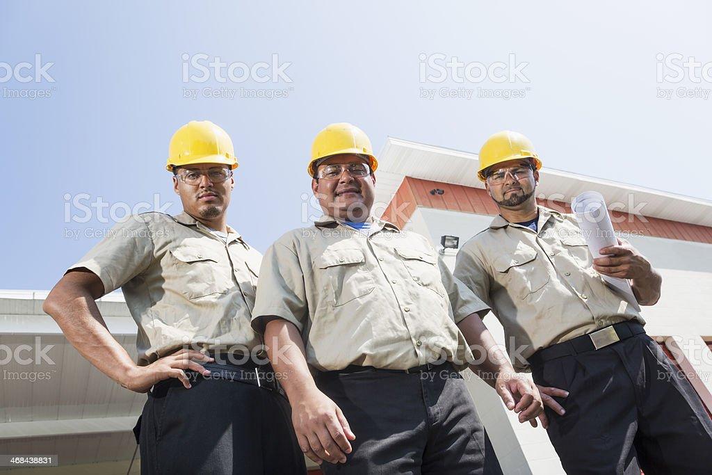 Hispanic construction workers royalty-free stock photo