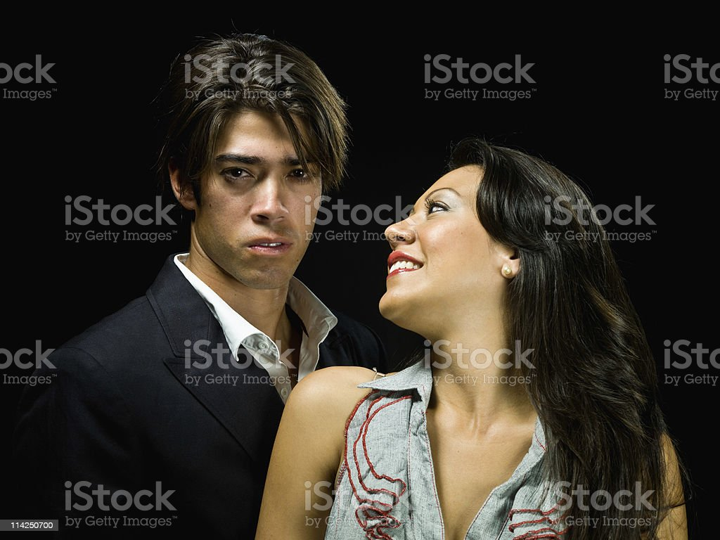 Hispanic couple in love royalty-free stock photo