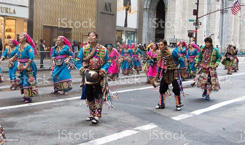 2016 Hispanic Day Parade in New York stock photo