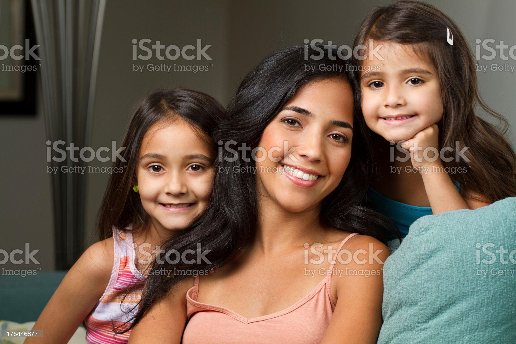 Hispanic Family royalty-free stock photo
