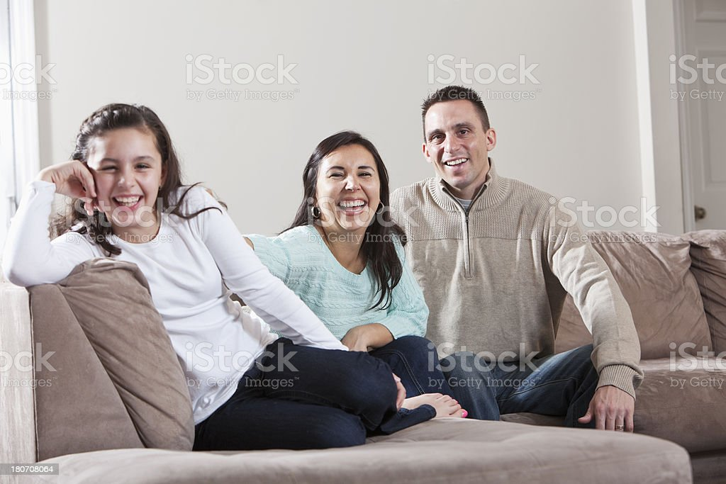 Hispanic family stock photo