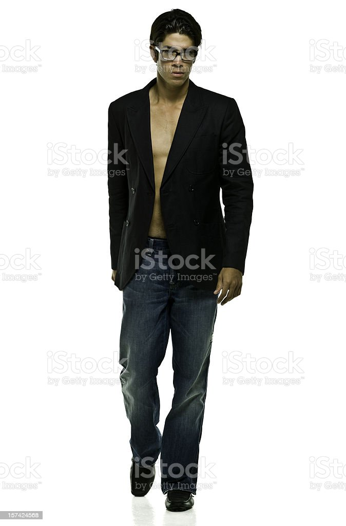 Hispanic fashion model royalty-free stock photo