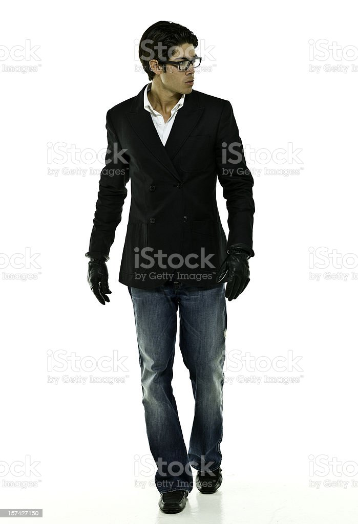 Hispanic fashion model royalty-free stock photo