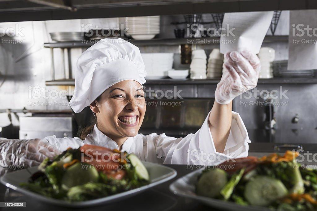 Hispanic female chef royalty-free stock photo