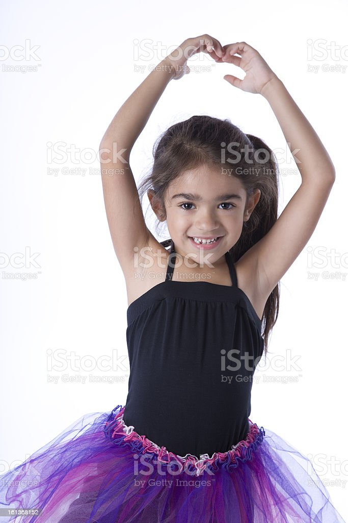 Hispanic Girl Dances Ballet royalty-free stock photo