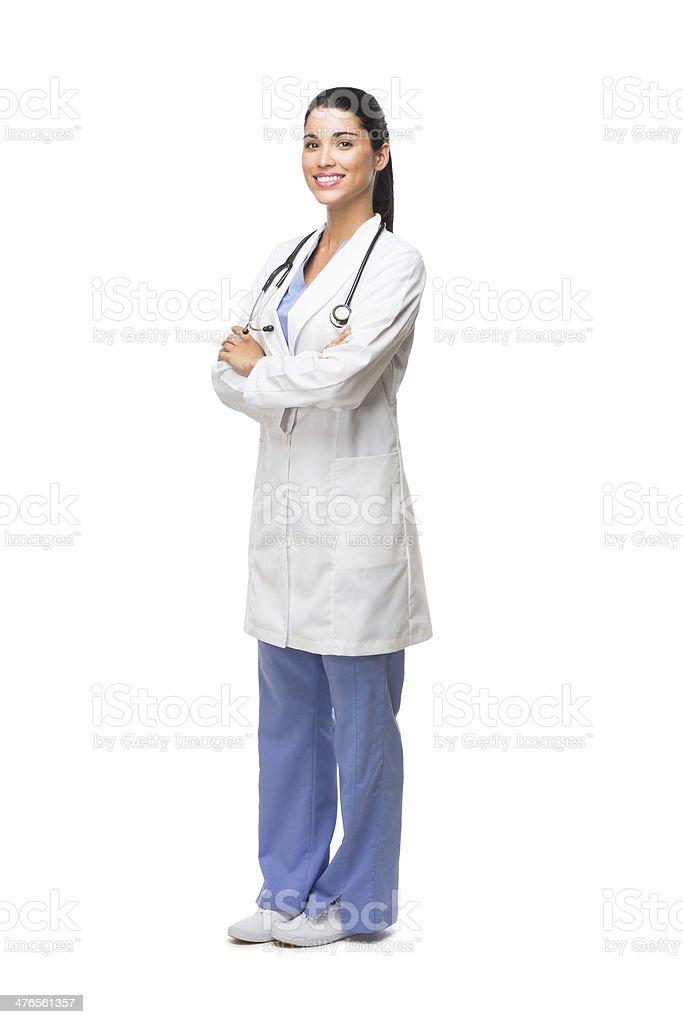 Hispanic health care proffesional royalty-free stock photo