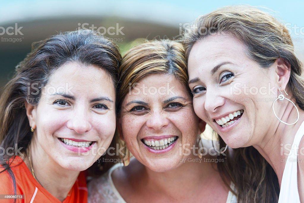 Hispanic housewives stock photo
