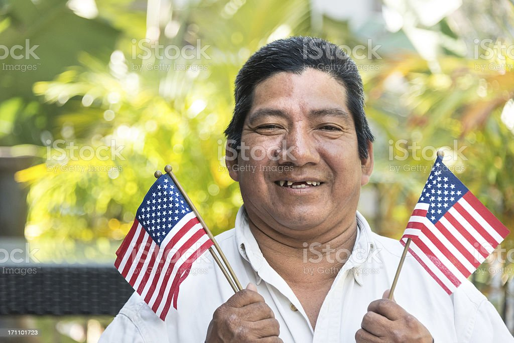 Hispanic immigrant royalty-free stock photo