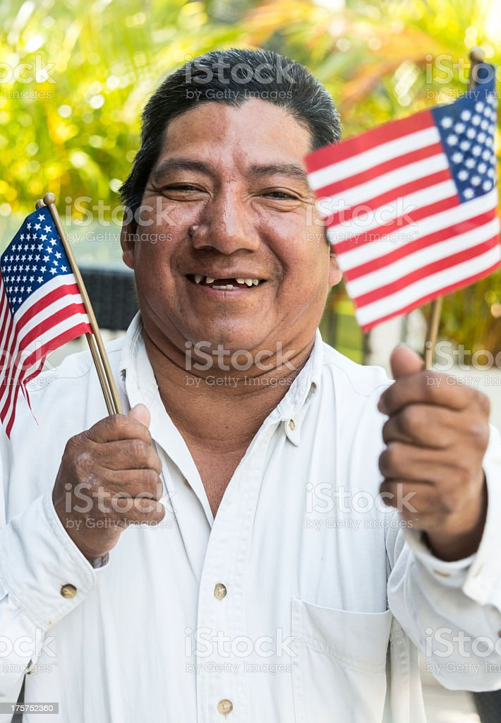 Hispanic immigrant stock photo