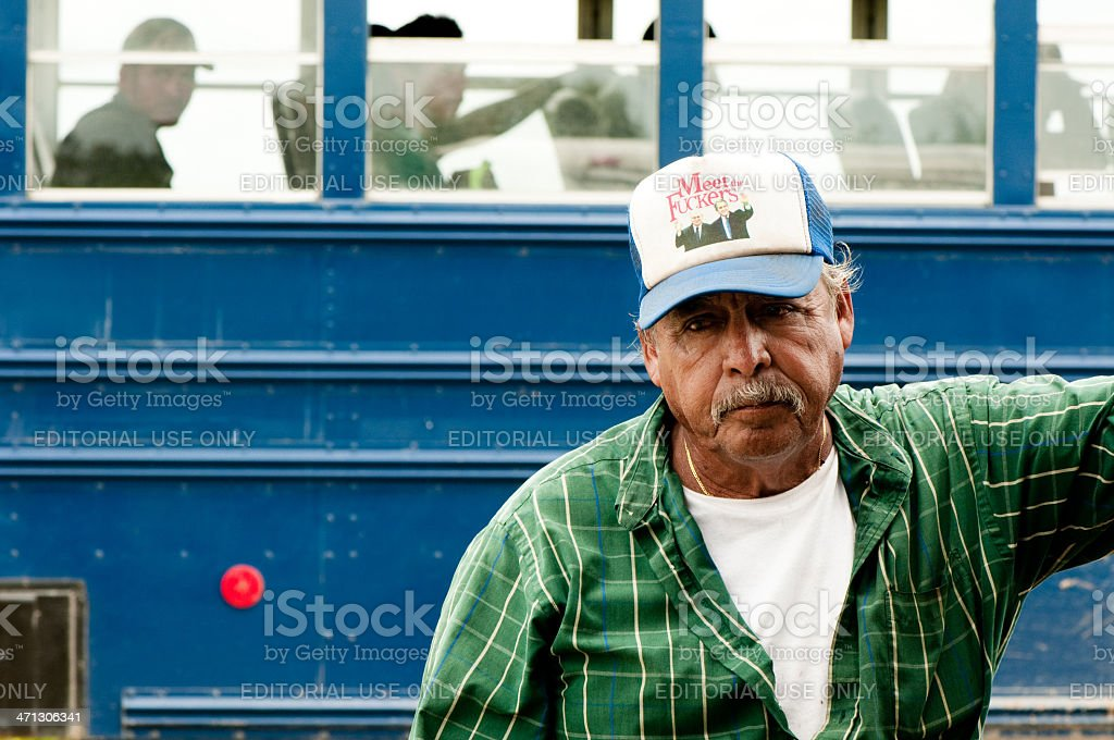 Hispanic labour in US Harvest stock photo