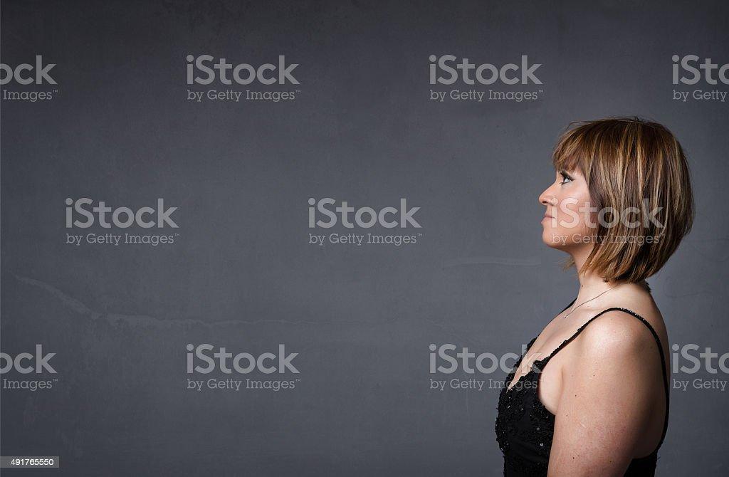 hispanic lady portrait stock photo