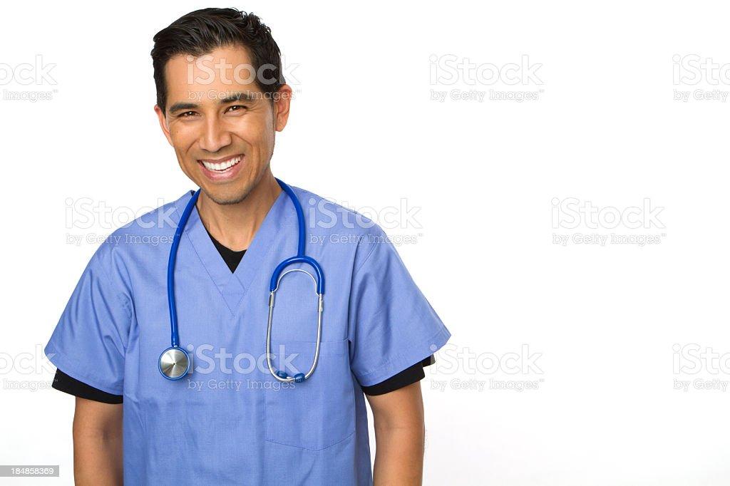 Hispanic Male Doctor royalty-free stock photo