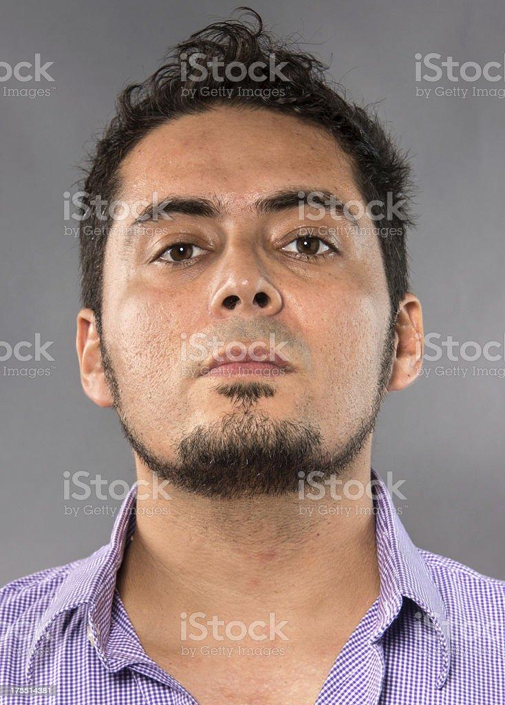 Hispanic man headshot stock photo