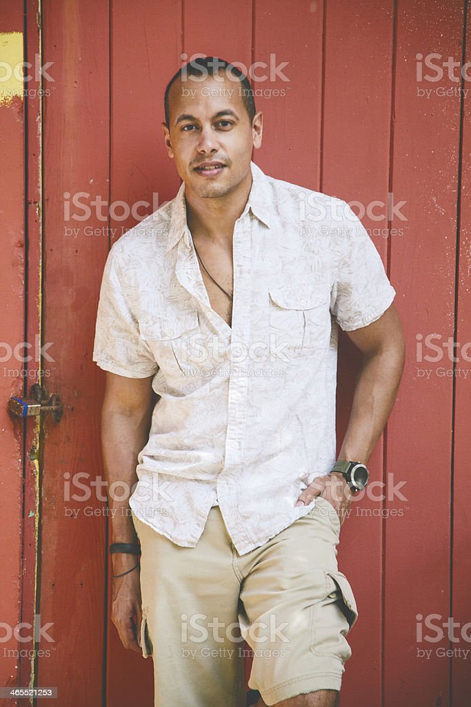 Hispanic man stock photo