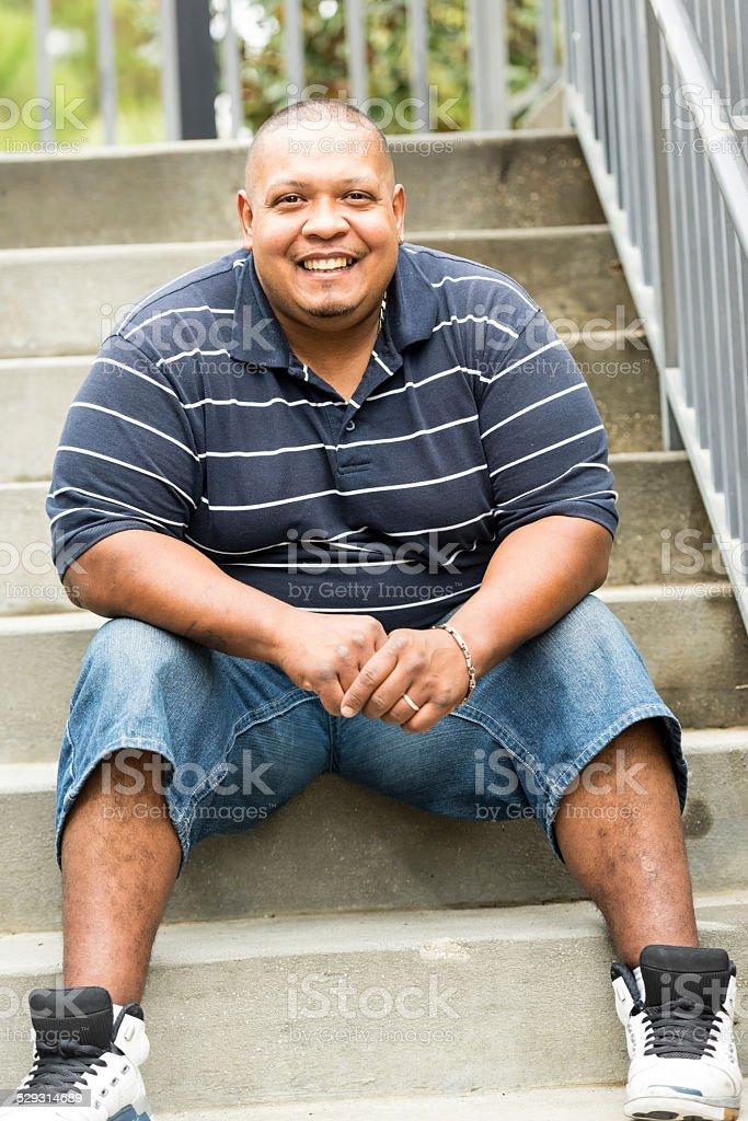 Hispanic man stock photo
