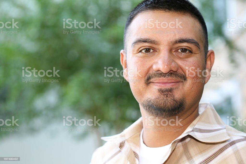 Hispanic Man Proud And Handsome with Copy Space stock photo
